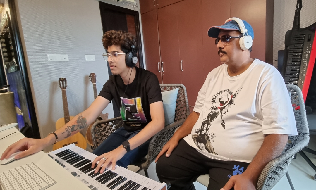 Mega Maker M.S. Raju's '7 Days 6 Nights' leaps into Background Score with prodigy Music Director !!